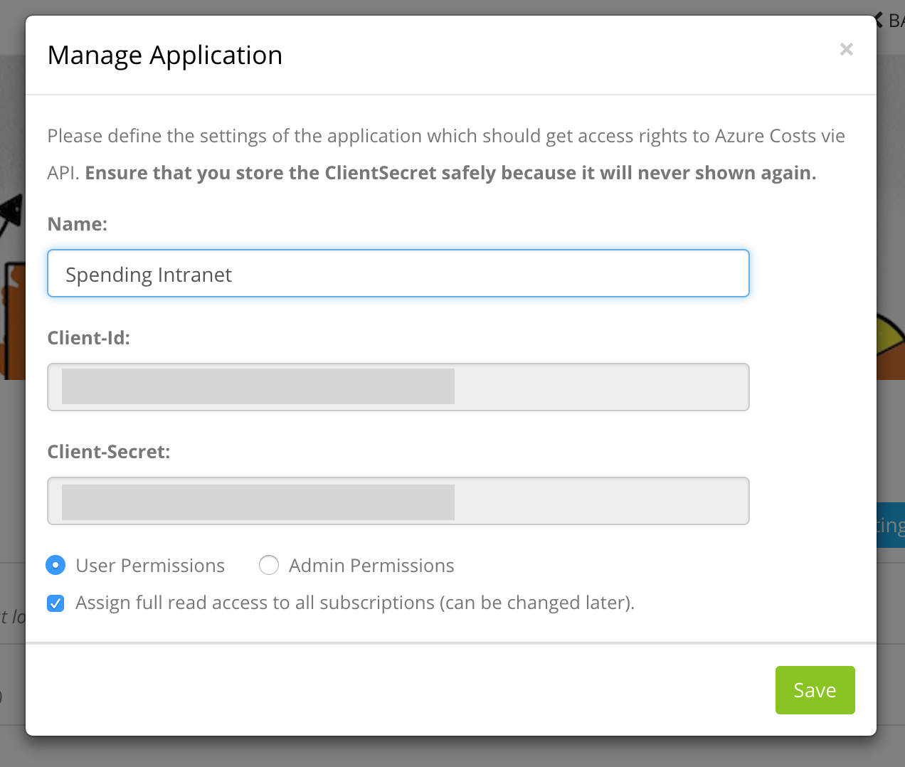Integrate your applications via oAuth2 – Customer Feedback for Azure